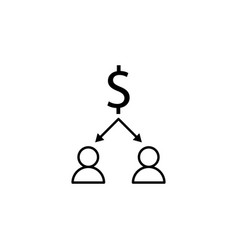 dollar workers arrows icon element of finance vector image