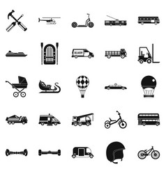drive icons set simple style vector image