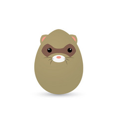 Easter animal egg vector