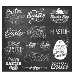 Easter Typographical Design Elements vector
