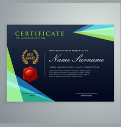 Elegant dark certificate design template in vector
