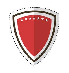 elegant shield frame icon vector image