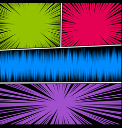 explosive and bursting comic composition vector image