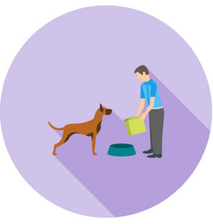 feeding pet vector image