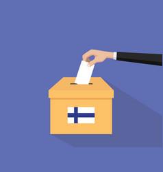 Finland election vote concept vector