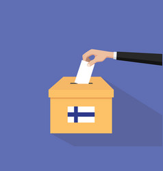 finland election vote concept with vector image