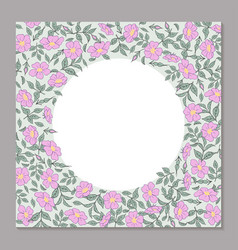 floral square template for greeting card cover vector image