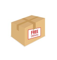 free delivery on the box vector image