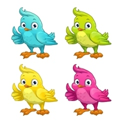 Funny cartoon bird vector