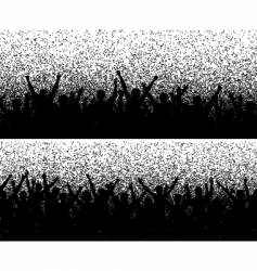 Grainy crowds vector