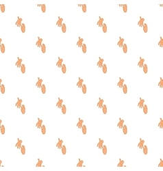 Hand reaches out pattern vector