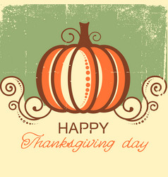 happy thanksgiving background with pumpkin vector image