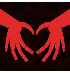 heart shaped hands vector image