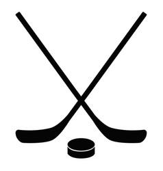 Hockey icon on white background flat style stick vector
