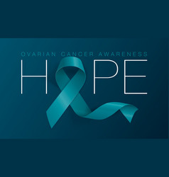 Hope ovarian cancer awareness calligraphy poster vector