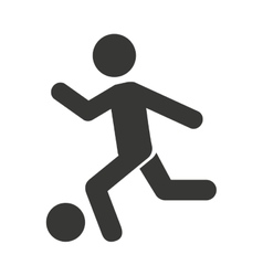 human figure playing soccer icon vector image