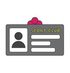 Icon in flat design personal card sports club vector