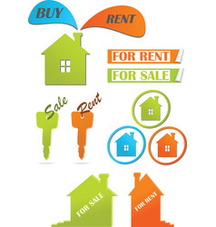 icons and stickers for real estate vector image