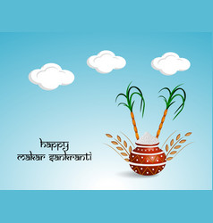 Indian festival makar sankranti vector
