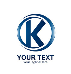 initial letter k logo template colored blue vector image