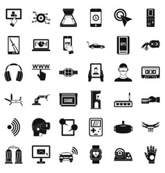 Internet adjustment icons set simple style vector