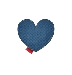 Isolated denim heart design vector image