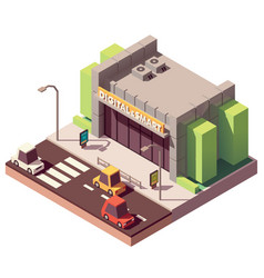 Isometric gadgets and computer store vector