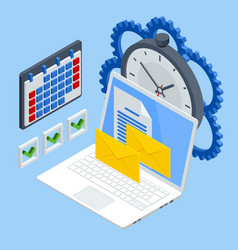 isometric time management quick reaction vector image