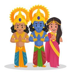 Lakshman lord rama goddess sita cartoon vector