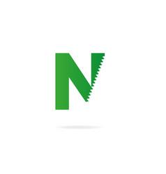 Letter n logo design template elements vector