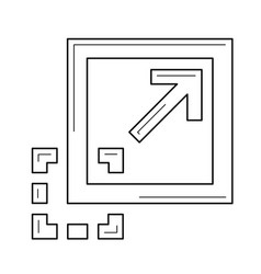 maximize image line icon vector image