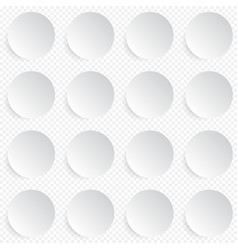 Modern seamless pattern in white circle buttons vector