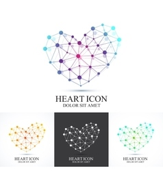 Modern set icon heart Heart logo template vector