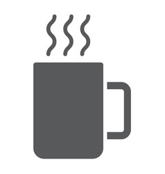 mug glyph icon kitchen and drink coffee sign vector image