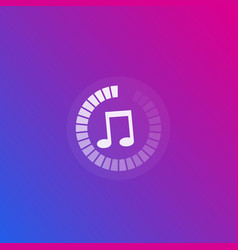 Music streaming icon vector