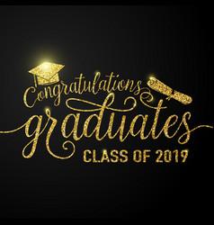 on black graduations vector image