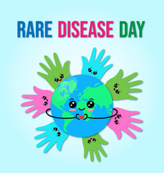 on theme world rare disease vector image