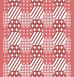 Patchwork quilt background in shades of red vector