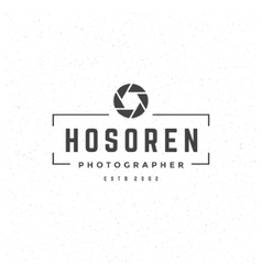 Photographer Design Element in Vintage Style vector image