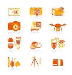 Photography set - JUICY series vector image