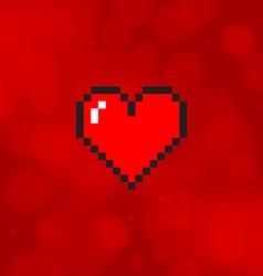 Pixel heart vector
