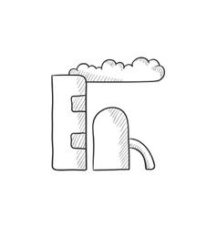 Refinery plant sketch icon vector image