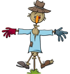 scarecrow character cartoon vector image