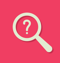 Search icon with question mark vector