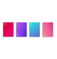 set of bright colorful creative covers templates vector image