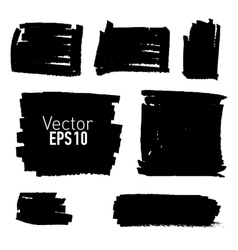 Set of hand drawn paint stains vector image