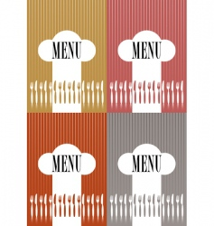 set of menu card covers vector image