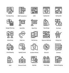 shopping colored icons set 7 vector image