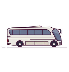 side view of modern bus vector image