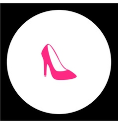 simple lady court shoe isolated pink icon eps10 vector image